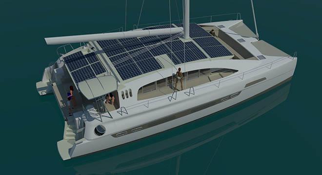 voyage e570 hybrid electric catamaran oceanvolt